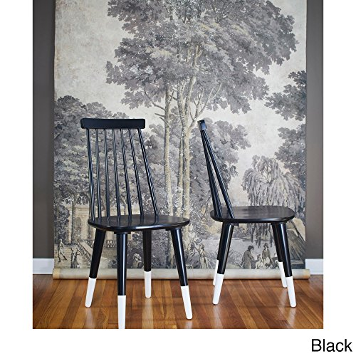 ANGELOHOME angelo:HOME Hermosa Dining Chair (Set of 2) Black/White by angelo:HOME