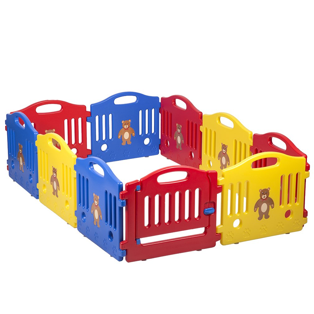 10 Panel Safety Play Center Yard Baby Playpen Kids Home Indoor Outdoor Pen by BestMassage (Image #3)