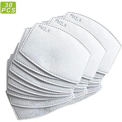 30 unidades: papel de filtro de carbón activado PM2.5 reemplazable, con 5 capas precisas.