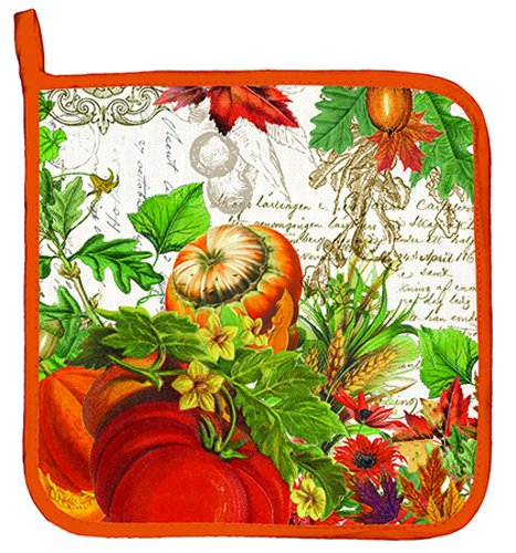Harvest Pot Holder (Michel Design Works Cotton Potholder, Autumn Harvest)