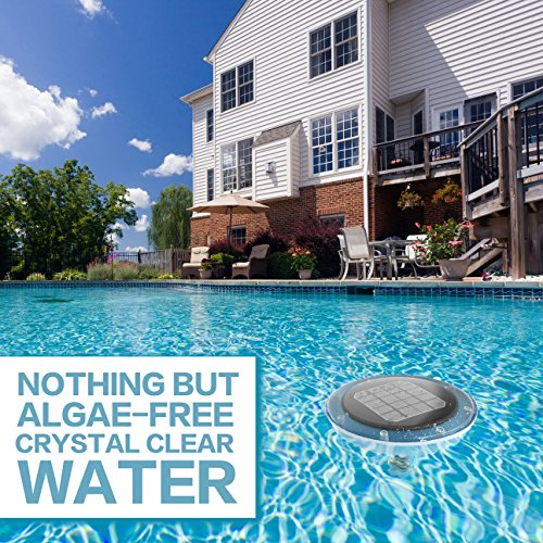 Algaecide no more solar power ionizer control algae using 80 less chlorine in your swimming Swimming pool algae treatment