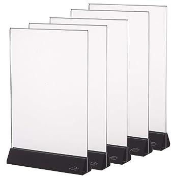 Amazon.com: Cq Acrylic - Juego de 5 soportes para carteles ...