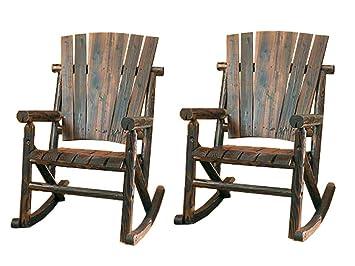Leigh Country Char Log Rocker Chair Combo (Rocker Chair(2))