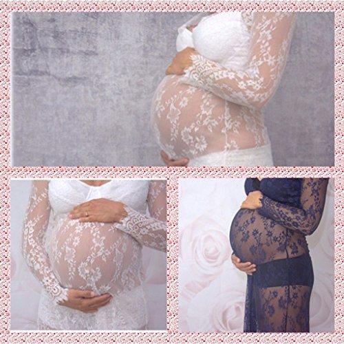 Per Da Vedere Maternit Foto Attraverso Gonne Puntelli Props Sharplace Pizzo Vestito Donne Partito Abiti PF6qwC