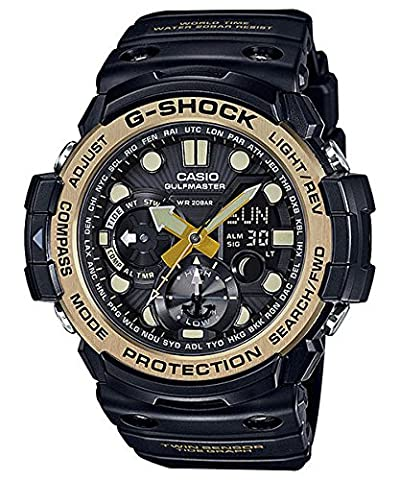 Men's Casio G-Shock Master of G Series Black and Vintage Gold-Tone Watch GN1000GB-1A (Gshock Watches Master Of G)