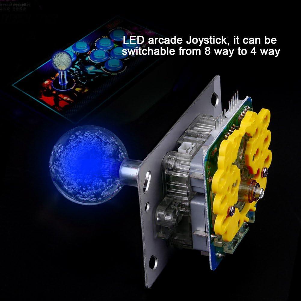 Hilitand LED Joystick Lumineux color/é commutable De 4 /à 8 Voies Op/ération pour Arcade Game DIY