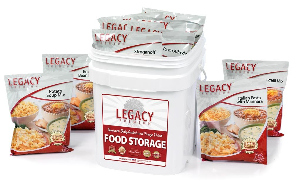 Emergency Survival Food Storage - 60 Large Servings: 16 Lbs - Freeze Dried Prepper Meals - Disaster Preparedness Supply Kit - Camping, Hiking, RV & More by Legacy Premium Food Storage