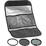 Hoya 77mm (HMC UV / Circular Polarizer / ND8) 3 Digital Filter Set with Pouch