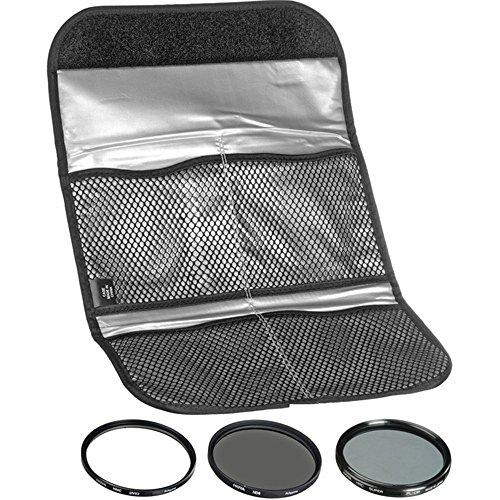 Hoya 77mm (HMC UV / Circular Polarizer / ND8) 3 Digital Filter Set with Pouch by Hoya