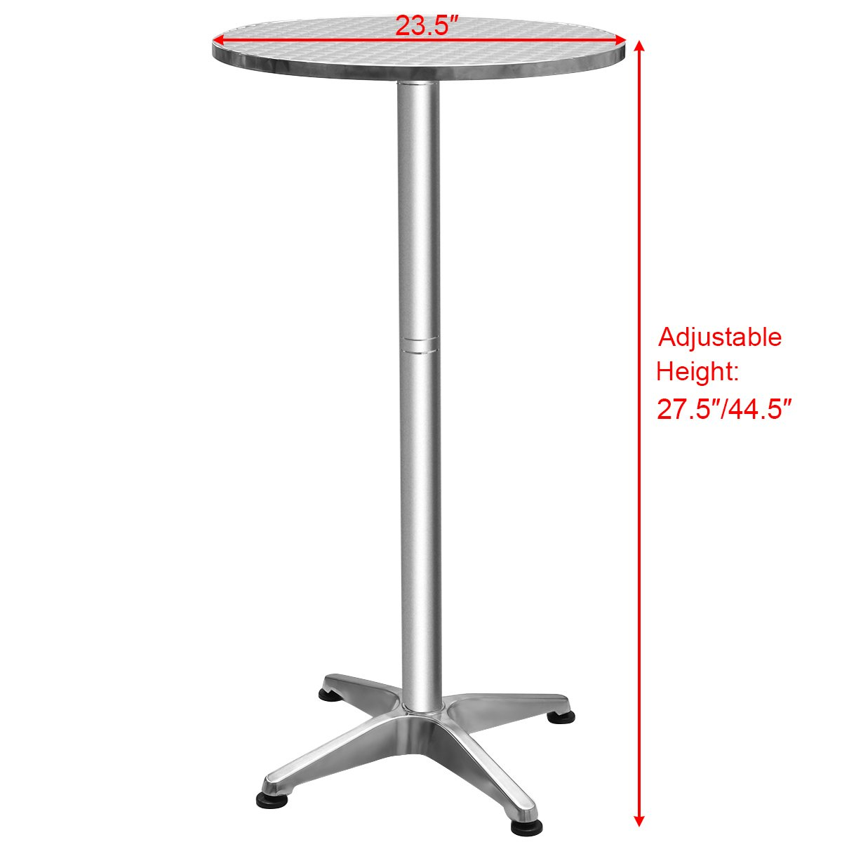 Giantex Bistro Bar Table Aluminium Round Folding Table W/Two Height Adjust  Table   Round Aluminum Bistro Bar Table U003c Bar Tables U003c Patio, Lawn U0026 Garden    ...