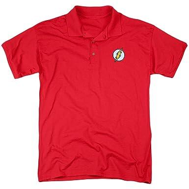 DC Para Hombre Bordado Flash Polo Rojo Rosso Small: Amazon.es ...