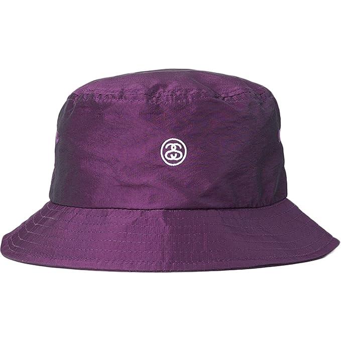 0705ae8984f Stussy Womens Iridescent Bucket Hat Cap Medium Large Purple  Amazon ...