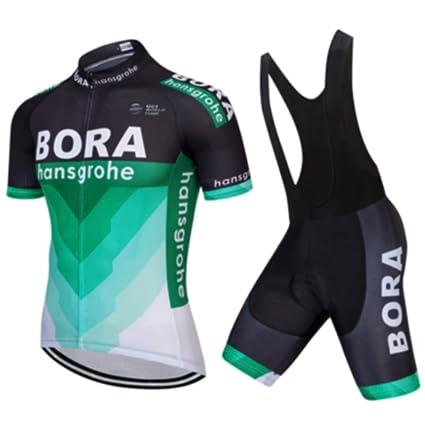 ZHLCYCL Traje Ciclismo Hombre, Maillot Ciclismo y Culotte Ciclismo con 5D Gel Pad para Verano Deportes al Aire Libre Ciclo Bicicleta