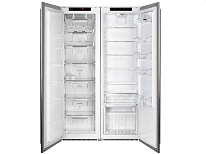 Smeg Kühlschrank Gefrierkombination : Smeg einbau side by side kühl gefrierkombination edelstahl
