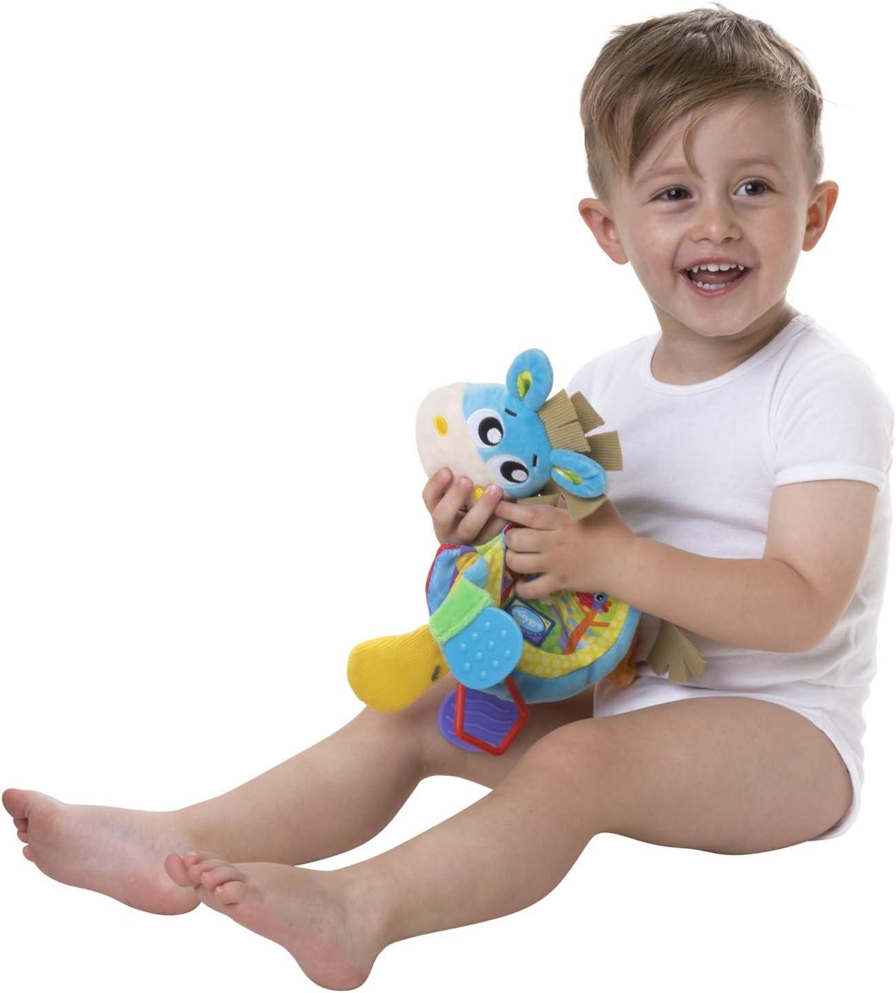 Dingly Dangly Clip Clop Playgro Kinderwagenanh/änger Klipp Klapp Pferd Blau//Bunt Ab 0 Monate 40145