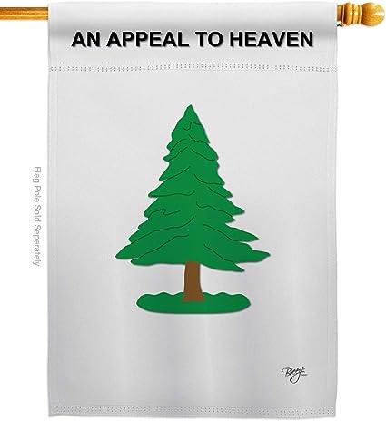 Amazon Com Breeze Decor Pine Tree Americana Everyday Historic Impressions Decorative Vertical House Flag 28 X 40 Printed In Usa Garden Outdoor