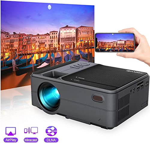 2020 Upgrade 3800 Lumen LED WiFi Projector, Full HD 1080P Supported Mini Projector, Native 720P Compatible with Smartphones, PS4, TV Box, TV Stick, HDMI, USB, AV for Home Outdoor Entertainment