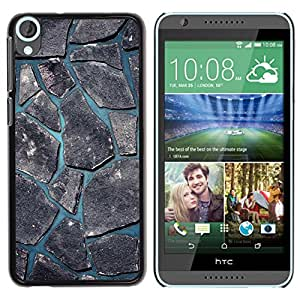 Qstar Arte & diseño plástico duro Fundas Cover Cubre Hard Case Cover para HTC Desire 820 ( Minimalist Beautiful Nature Cobblestone)