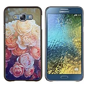 Stuss Case / Funda Carcasa protectora - Peony Orange Sole - Samsung Galaxy E7 E700