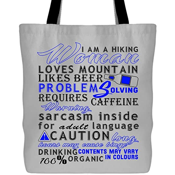 c22c69ce0635 Amazon.com  I Am A Hiking Woman Tote Bags - Shopping Canvas Bags