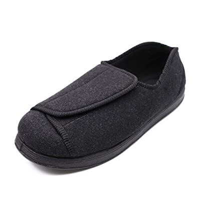 8f218eb4f3 Orthoshoes Women's Diabetic Slippers Extra Wide Shoes Adjustable Closures  for Edema Elderly Swollen Feet Orthopaedic Fasciitis