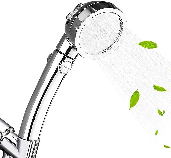 3-Settings Handheld Showerhead with ON//Off Marbrasse High Pressure Shower Head