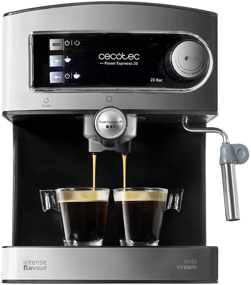 Cecotec Power Espresso 20 - Cafetera Express Manual, 850W, Presión ...