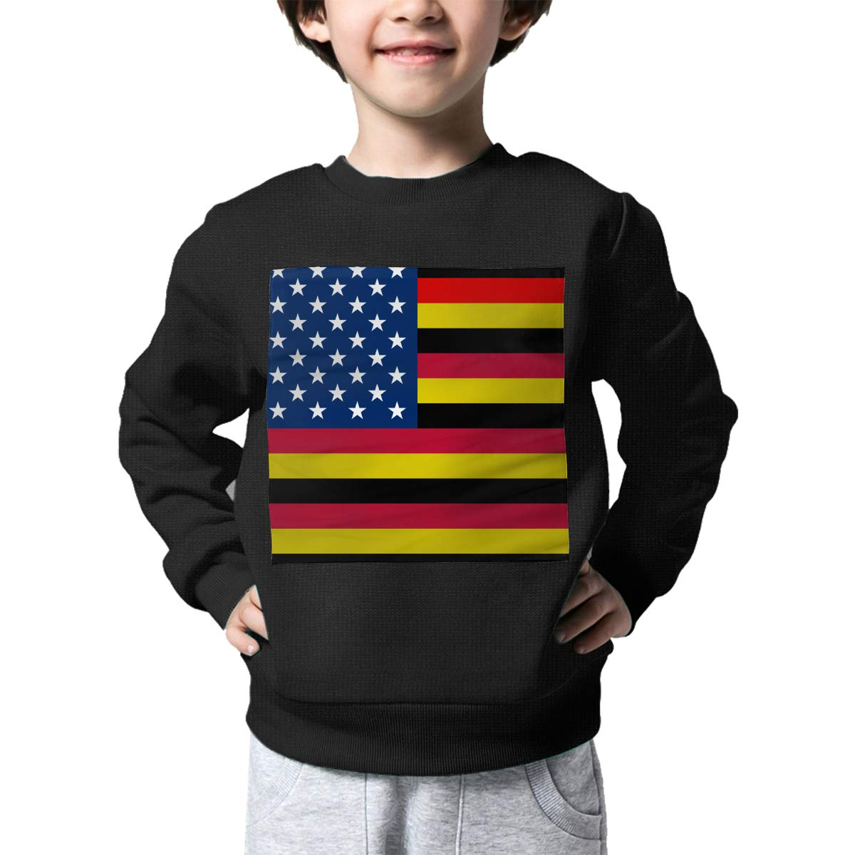 BaPaLa German American Flag Boys Pullover Sweater Funny Crew Neck Knitted Sweater for 2-6T