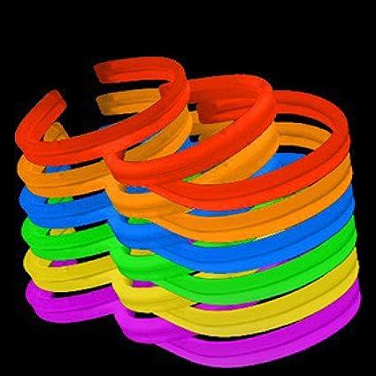 """NEW 120 8/"""" Glow Sticks Bracelets Twisters ORANGE"""