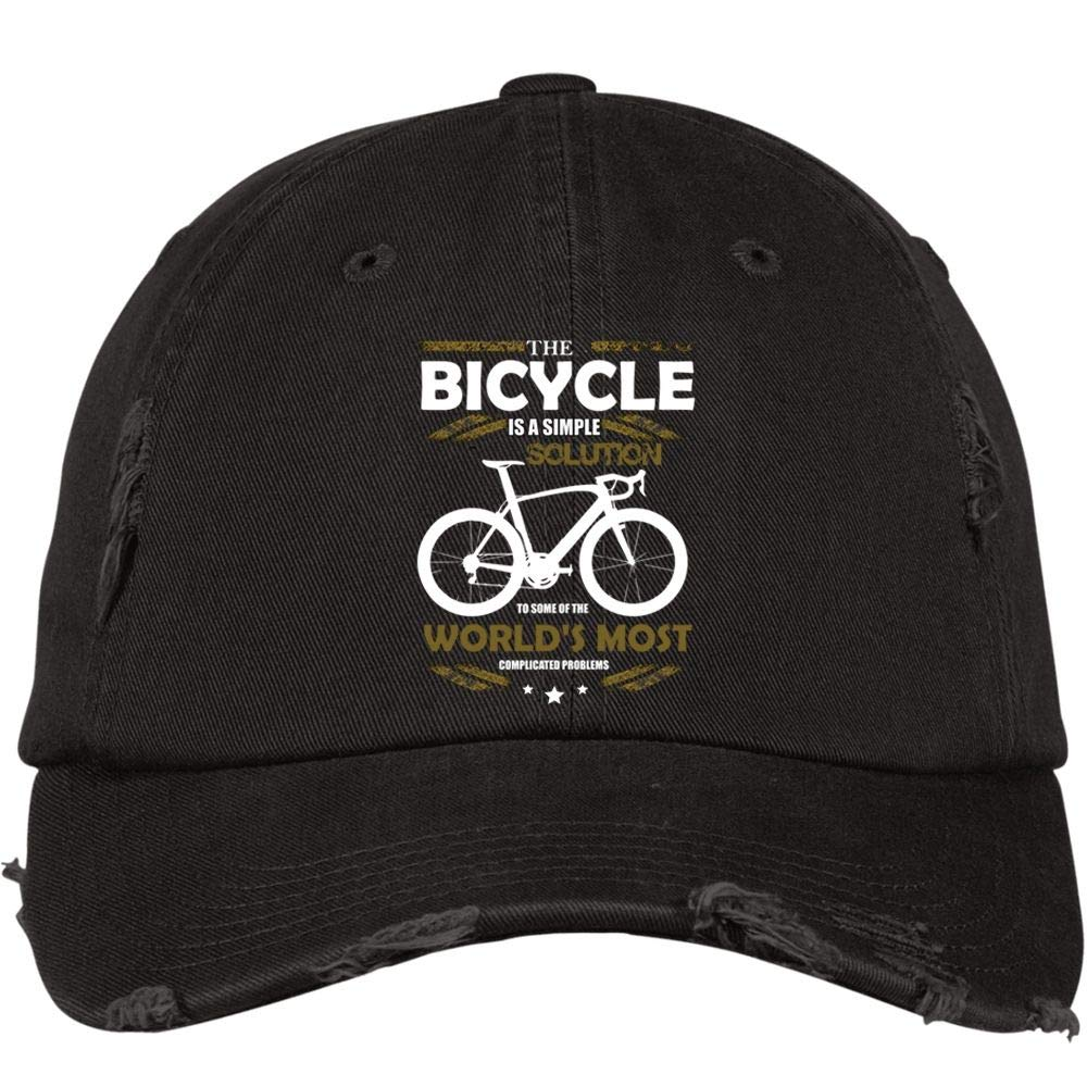 I Love Cycling Hat I Love My Bicycle District Distressed Dad Cap