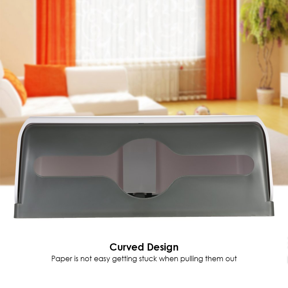 Silver Micowin CHUANGDIAN Wall-Mounted Bathroom Rectangular Tissue Dispenser for Multifold Paper Towels