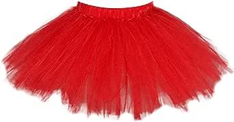 Aivtalk Girls Classic Ballet Tutu Party Dress-up Tulle Skirt for 1-2 T Baby Girls (Red)
