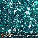 Starfire Glass 20-Pound Fire Glass 1-Inch Caribbean Blue...
