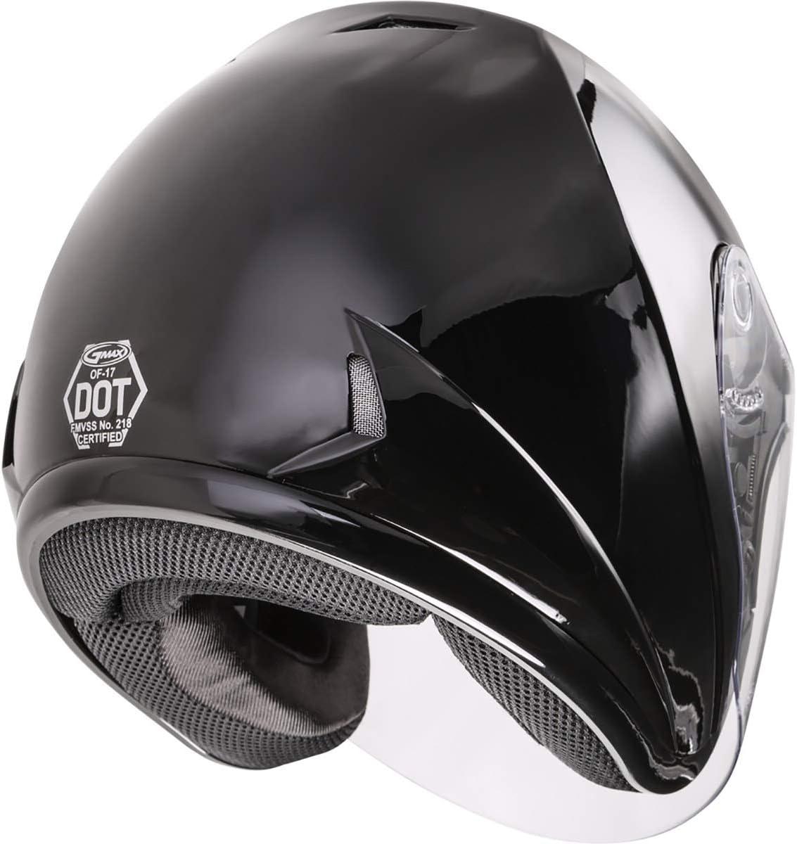 GMAX OF-17 Solid Helmet Motorcycle Street Bike 3//4 Helmet