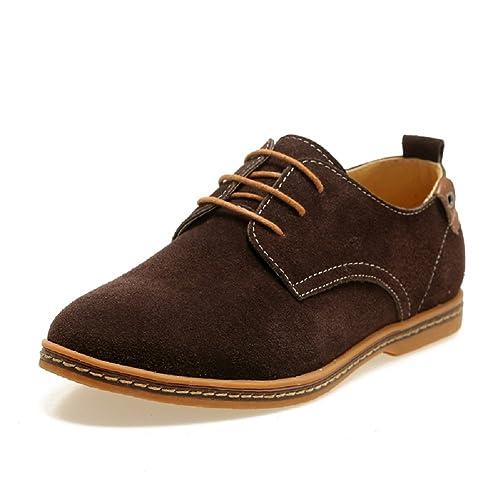 Zapatos de Cordones de Estilo de Europeos para hombre, Zapatillas de Gamuza de Estilo Europeo Oxdords, Zapatos de Vestir Hombre: Amazon.es: Zapatos y ...