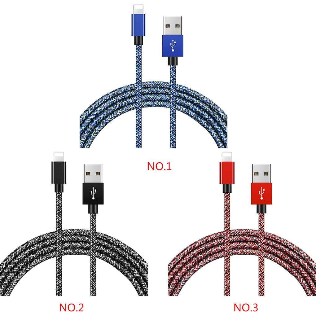 Fangfeen 1//2 m/ètre Flocon de Neige en Nylon tress/é de Charge USB Cordon t/él/éphonique de donn/ées de Charge Rapide C/âble pour iOS pour iPhone