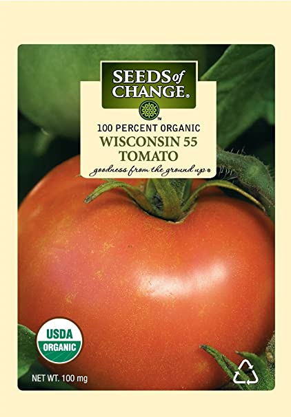 Seeds of Change 05001 Certified Organic Wisconsin 55 Slicer Tomato