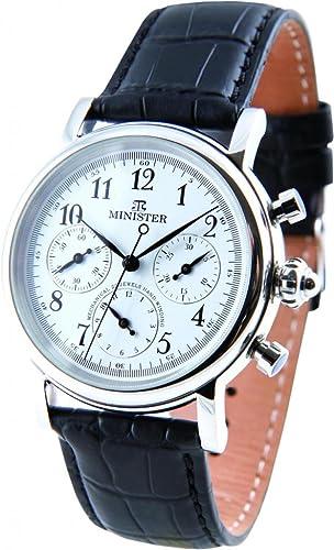 Minister automatico-8765 Reloj hombre de pulsera automatico-: Amazon.es: Relojes