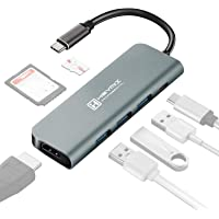 HEYMIX USB C Hub Type C Adapter 4K HDMI 7-in-1 Hub 3.0USBx3, 87W PD Power Delivery SD/Micro for MacBook Pro 2018/2017…