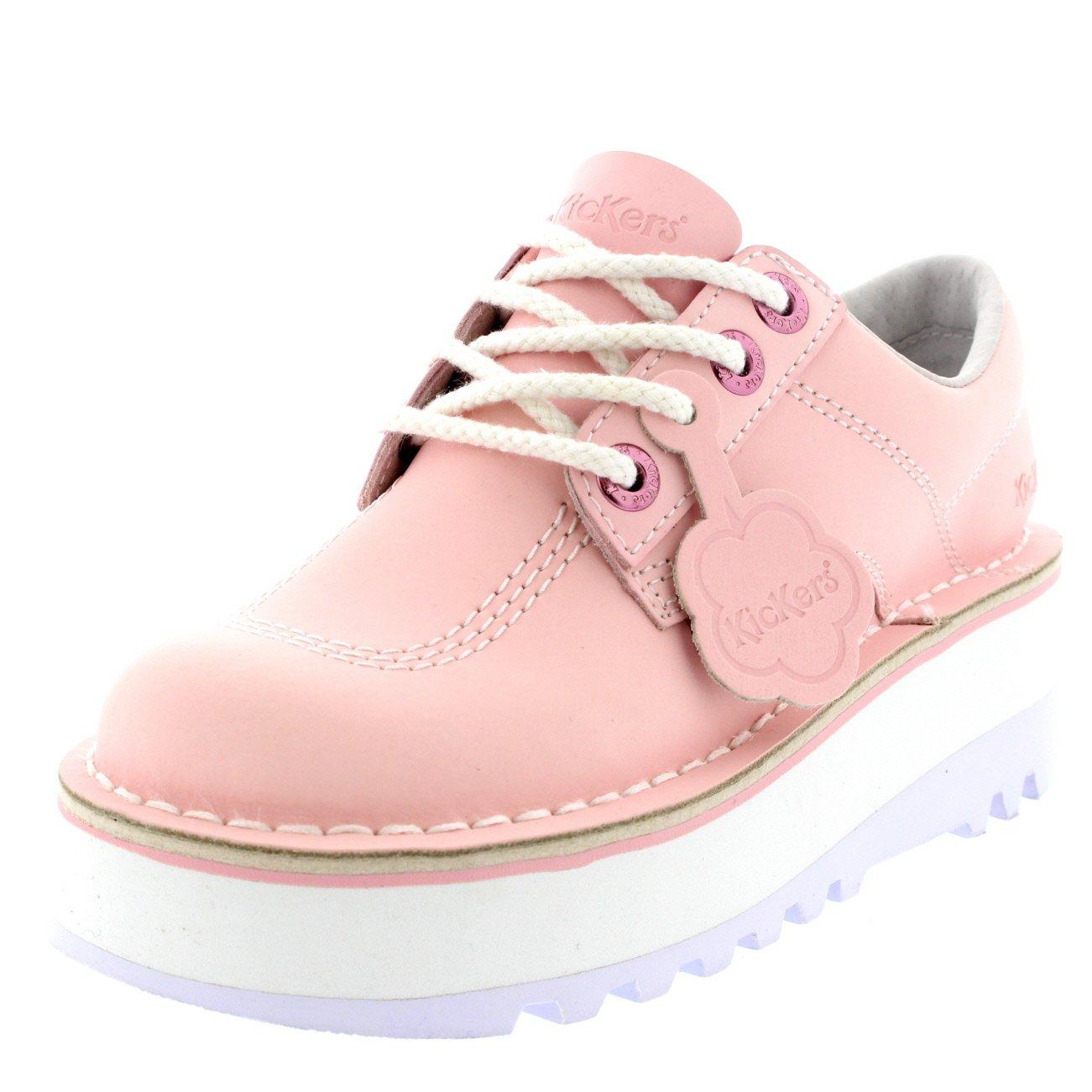 cde32ba8f9a Kickers Womens Kick Lo Eye Stack Wedges Platform Pale Pink Heels Shoes - Light  Pink - 10.5  Amazon.co.uk  Shoes   Bags