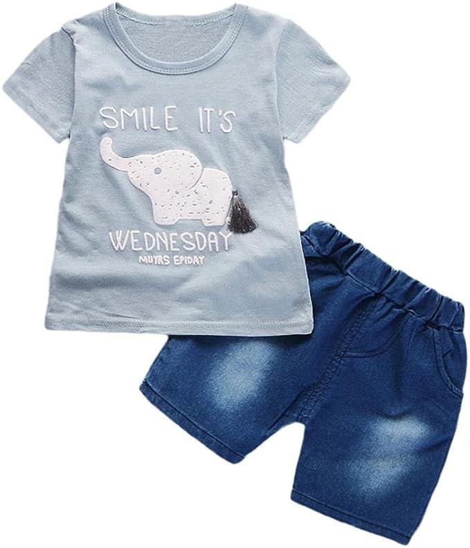 Amazon.com: leegor bebé niños bebé manga corta camisetas ...