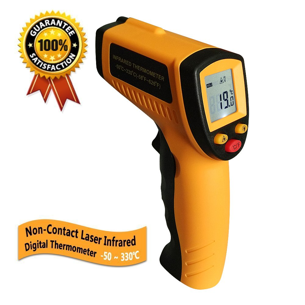 Digital Infrared Thermometer Acuker Non-contact Laser IR Temperature Gun,-58°F to 626°F