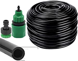 10-50 Meter 4/7Mm Garden Water Hose & Quick Connector Micro Drip Misting Irrigation Tubing Pipe PVC Hose 1/4'' Hose KSL01-023-25M 1/4''
