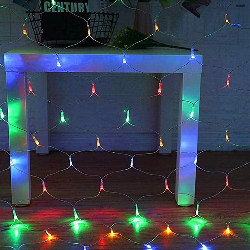 para Interior-Exterior a Prueba de Agua Leprechaun Luces Jard/ín /árbol Envuelto Luces de Navidad Blanco fr/ío 3X2M SUWIN Las Luces LED de Malla de Varios tama/ños Cuento de Hadas Luces de Cadena