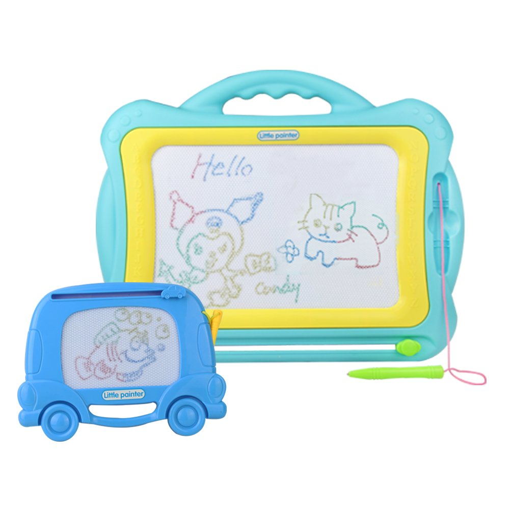 Magna Doodle-Erasable Magnetic Sketch Pad Letters and Numbers Educational Toys-2 in 1 Portable Colorful Scribble Board Game for Kids