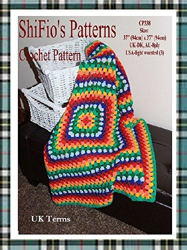 Crochet Pattern - CP338 - crochet granny square afghan blanket  - UK Terminology