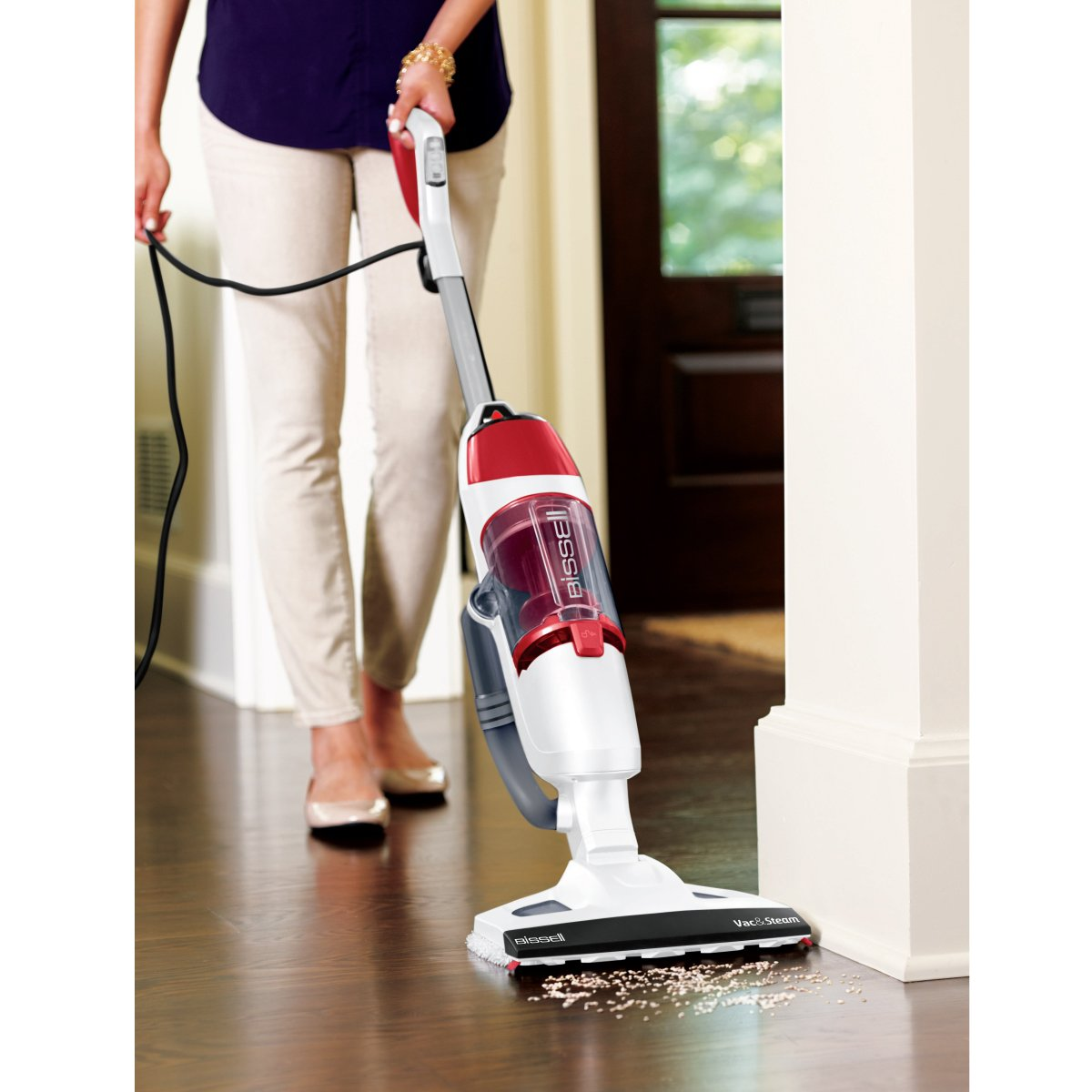 Bissell vac and steam 2 in 1 vacuum cleaner whitered amazon bissell vac and steam 2 in 1 vacuum cleaner whitered amazon kitchen home dailygadgetfo Choice Image