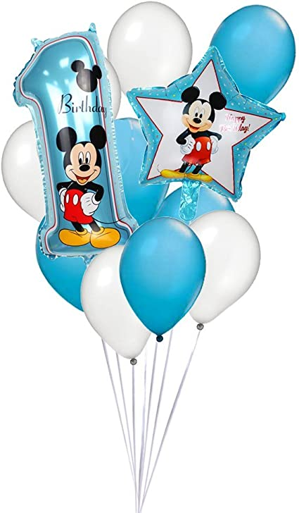 Amazon.com: Mickey Mouse 1er Cumpleaños Globo Ramo: Toys & Games