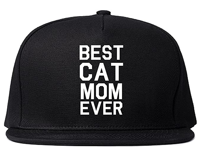 Best Cat Mom Ever Snapback Hat Cap Black at Amazon Men s Clothing store  62410df860f