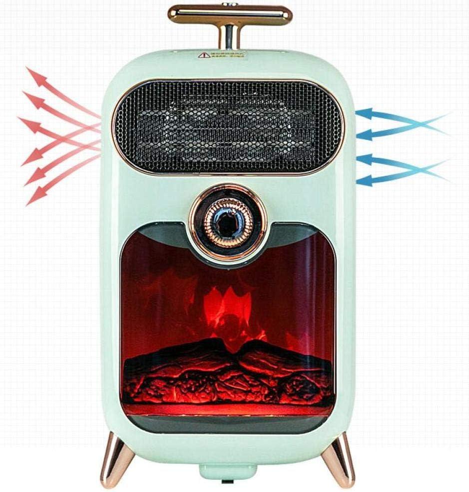 NFJ Calefactor El/éctrico Chimney Termoventilador 900W Estufa Cer/ámica Efecto Chimenea Port/átil Bajo Consumo Sensor Sobrecalentamiento Y Antivuelco,White Estufa Aire Caliente